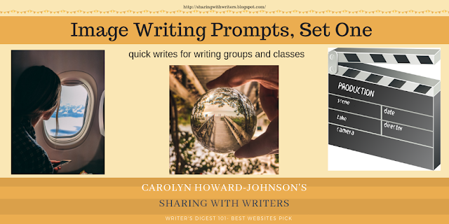 Set One Writing Prompts for Sharing with Writers and Readers Blog Freebies for the 15th of each month