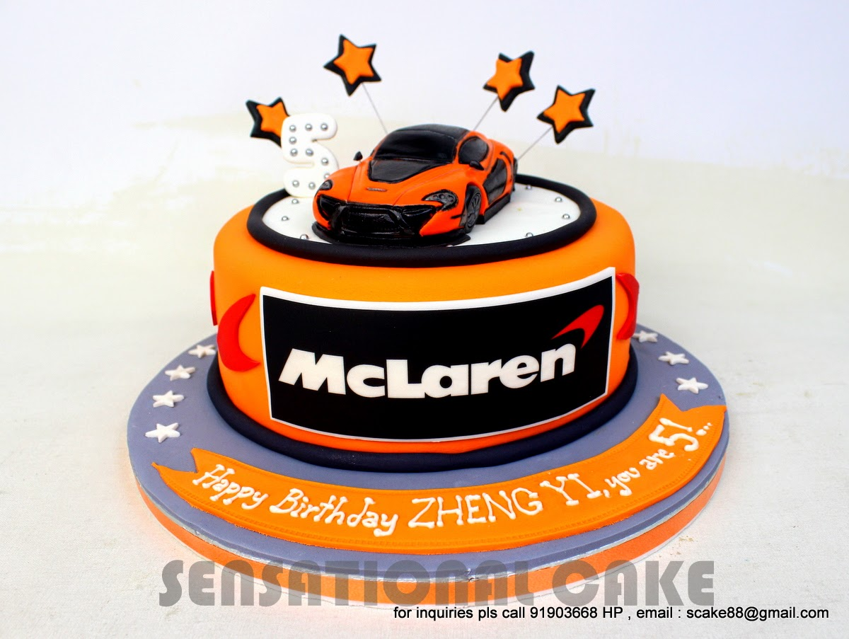The Sensational Cakes Mclaren P1 Concept Theme 3d Cake