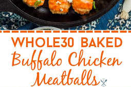 Whole30 Baked Buffalo Chicken Meatballs Recipe