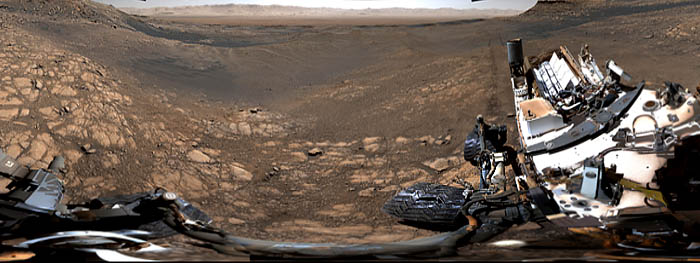 recorde imagem panoramica de Marte