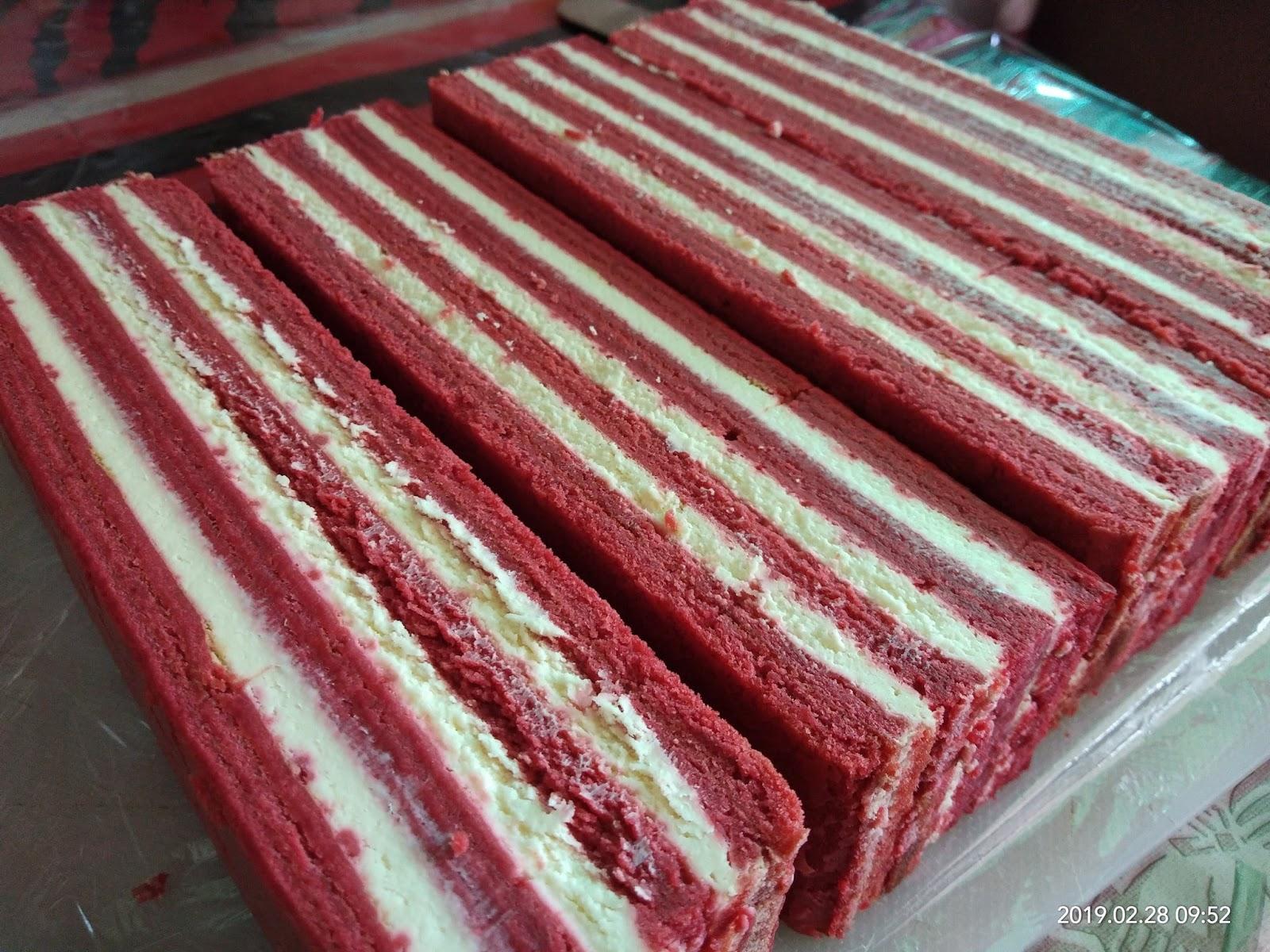 resipi kek lapis red velvet