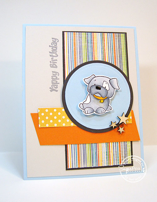 Yappy Birthday card-designed by Lori Tecler/Inking Aloud-stamps from SugarPea Designs