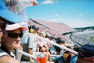 race track, fans, grandstands, MIS, Michigan International Speedway