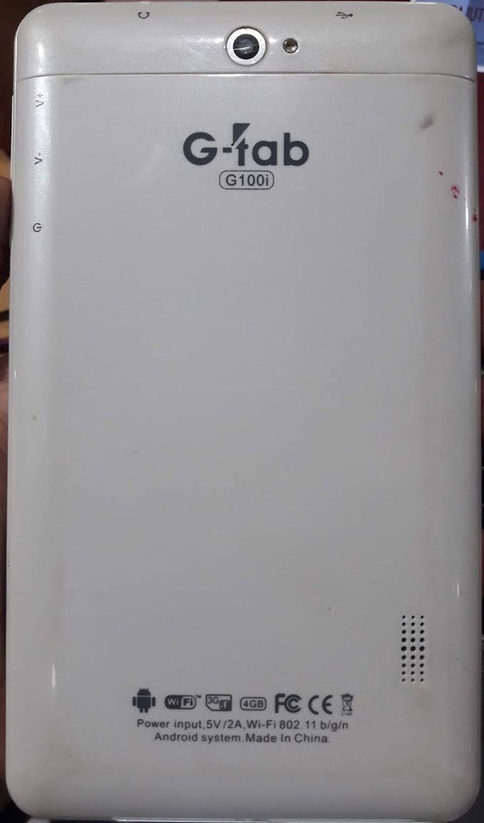 G-TAB G100i FLASH FILE MT6572 FIRMWARE