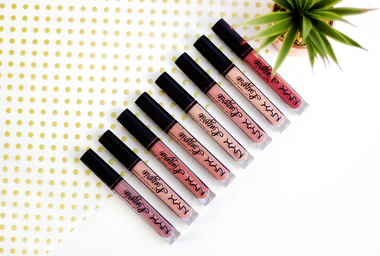 NYX Lingerie liquid lipsticks Kylie Cosmetics Lip Kit dupes, NYX Lingerie liquid lipsticks, Kylie Cosmetics Dupes