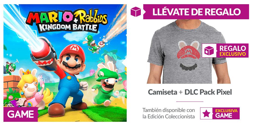 Serás la persona más elegante con esta camiseta de Mario + Rabbids de regalo al reservar en GAME