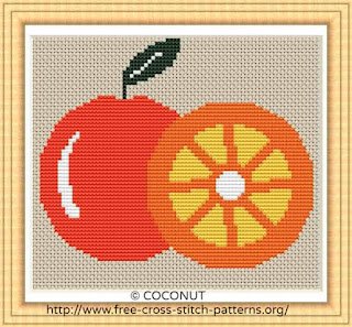 Orange, FREE AND EASY PRINTABLE CROSS STITCH PATTERN