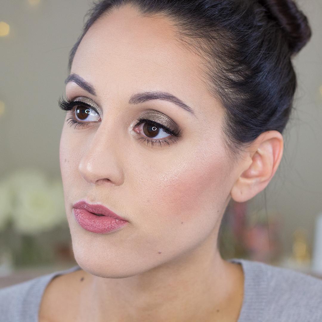 Jouer Skinny Dip Ultra Foil Shimmer Eyeshadow Palette Makeup Look