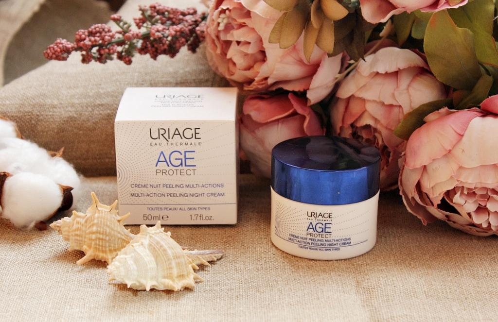 Ночной крем-пилинг Uriage AGE PROTECT Multi-action peeling night cream / обзор, отзывы
