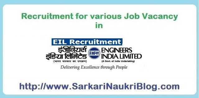 Vacancies Recruitment in Engineers India Limited