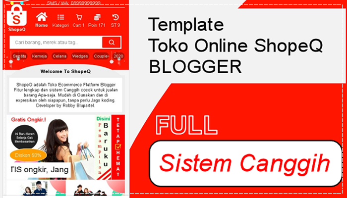 ShopeQ Template Blogger Toko Online ShopeQ