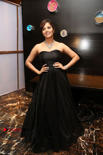 Telugu Anchor Actress Anasuya Bharadwa Stills in Strap Less Black Long Dress at Winner Pre Release Function  0049.jpg