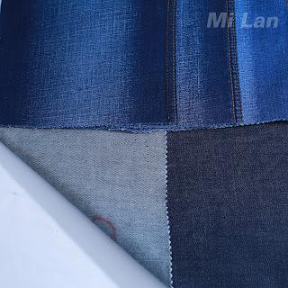 Vải Jean Bé gái Cotton thun nhẹ K56