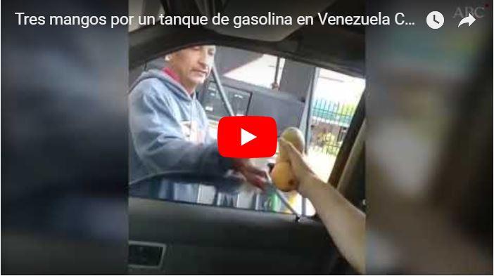 Tres mangos por un tanque de gasolina - Solo en Venezuela