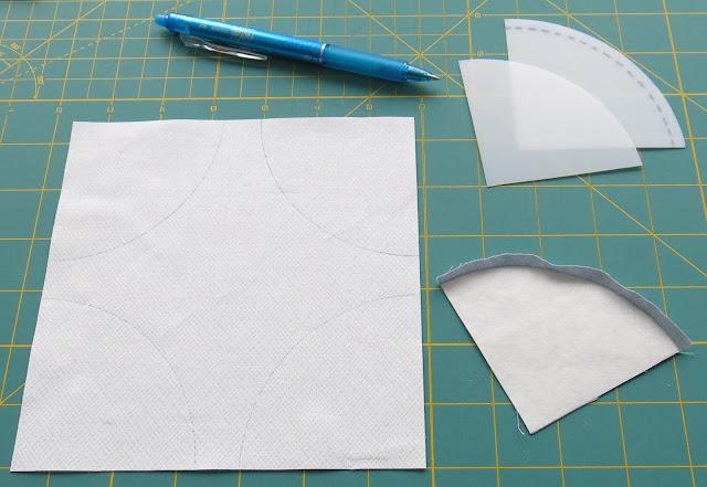Amish Grace pattern - Quiltmania Simply Modern - Preparing blocks