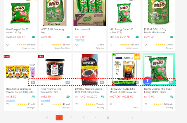 Shopee ad appearance on desktop (2)