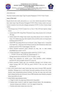 Press Release COVID-19 Tarakan 25 Mei 2020 - Tarakan Info