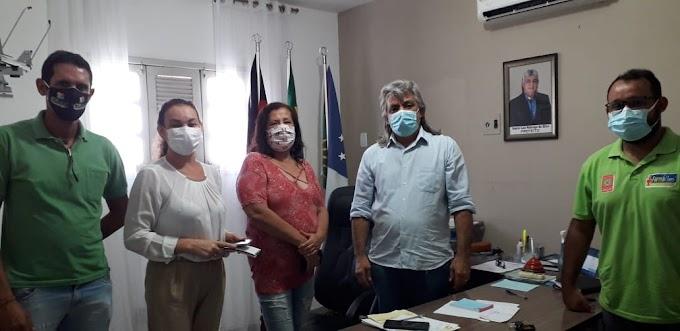 Prefeito Inácio Nóbrega recebeu a Conselheira do Orçamento Democrático Estadual Nelma Cardoso para tratar sobre o ODE 2021