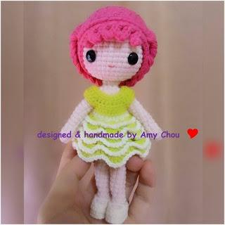 patron amigurumi Little Sweetheart Lisa crochet y amigurumis