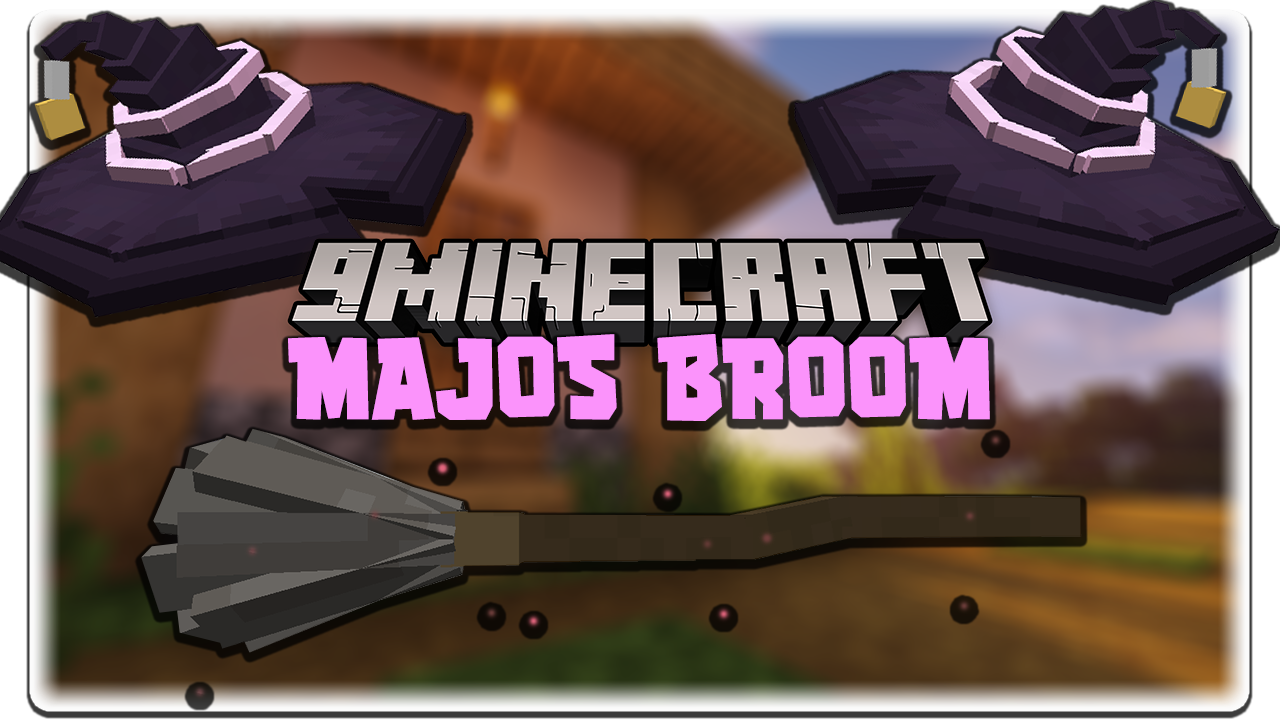 Minecraft New Majos Broom Mod For 1.17.1/1.16.5 (Magic And Flying Broom)