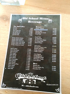 Old school resto padang menu