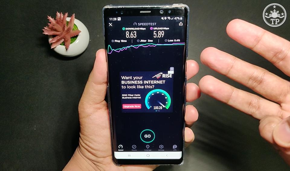 PLDT Home WiFi Prepaid SpeedTest Result