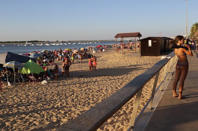 Playa de la Calzada o del Paseo en Sanlúcar de Barrameda