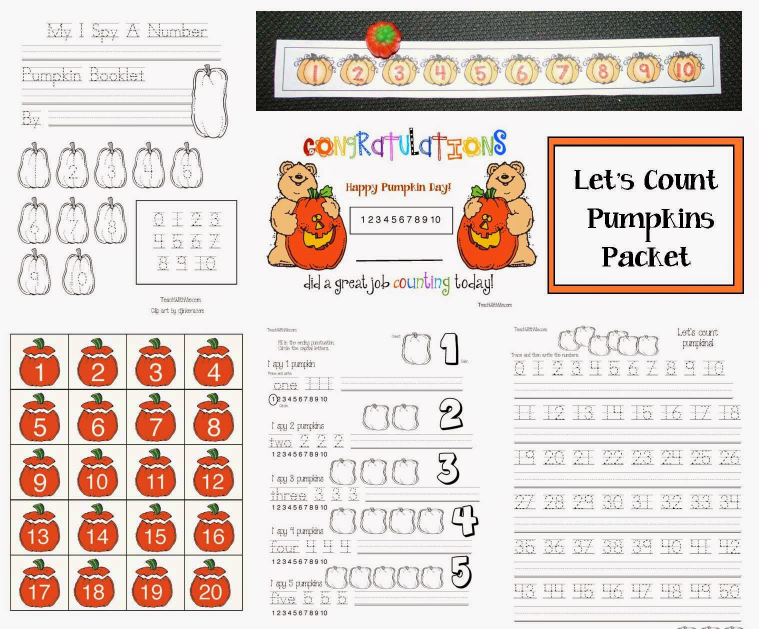 Classroom Freebies Let S Count Pumpkins