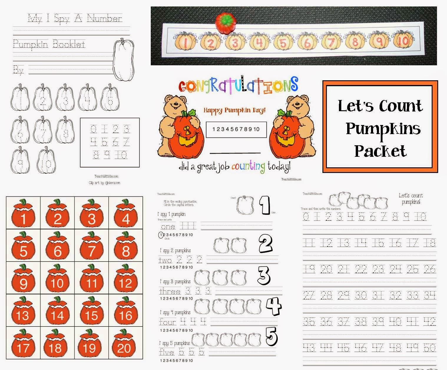 Classroom Freebies Let S Count Pumpkins