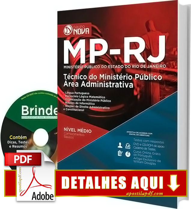 Apostila MP RJ 2016 Técnico Administrativo Impressa