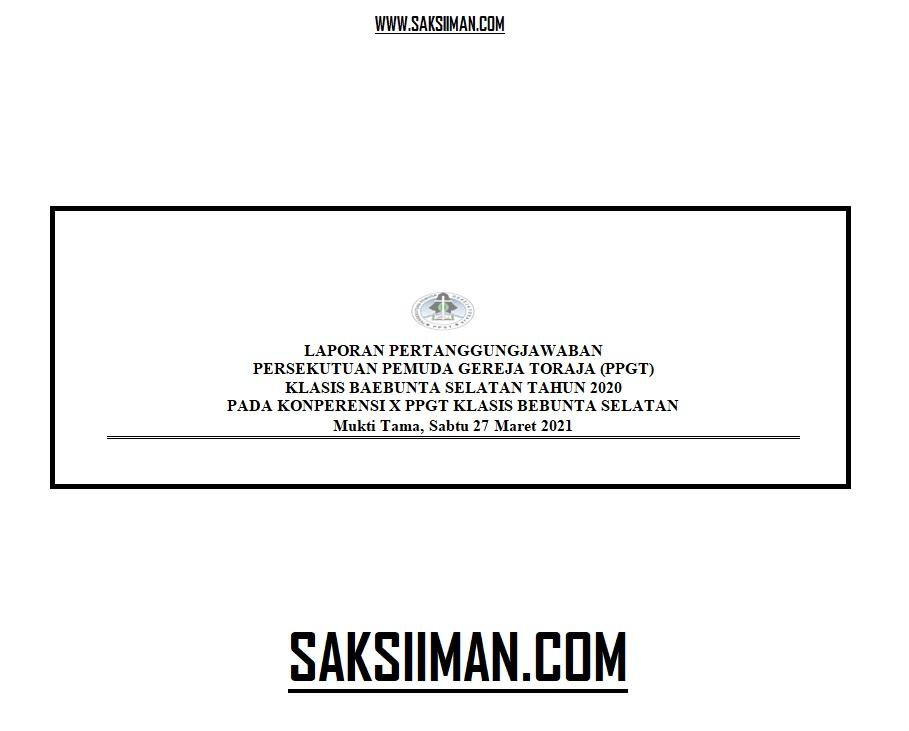 Laporan Pertanggungjawaban PPGT Klasis Baebunta Selatan (LPJ 2020)