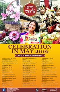 Jadwal Event Mei dan HUT ke-723 Surabaya 2016