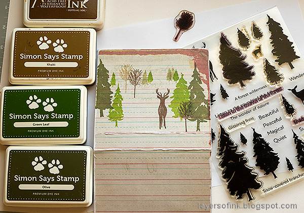 Layers of ink - Nature Journal and Box Tutorial by Anna-Karin Evaldsson. With Eileen Hull Folio die.