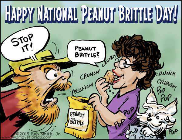 National Peanut Brittle Day Wishes Photos