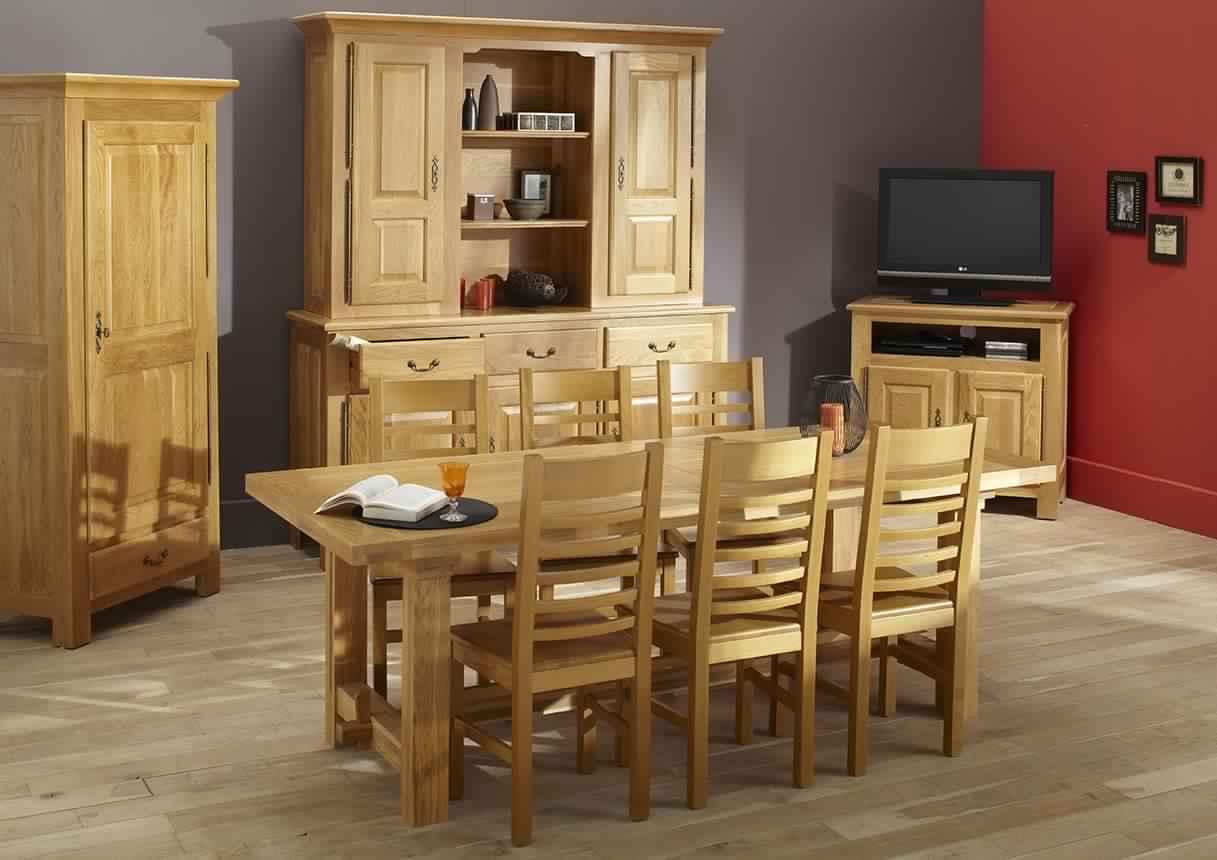 salle a manger en bois massif conceptions de maison. Black Bedroom Furniture Sets. Home Design Ideas
