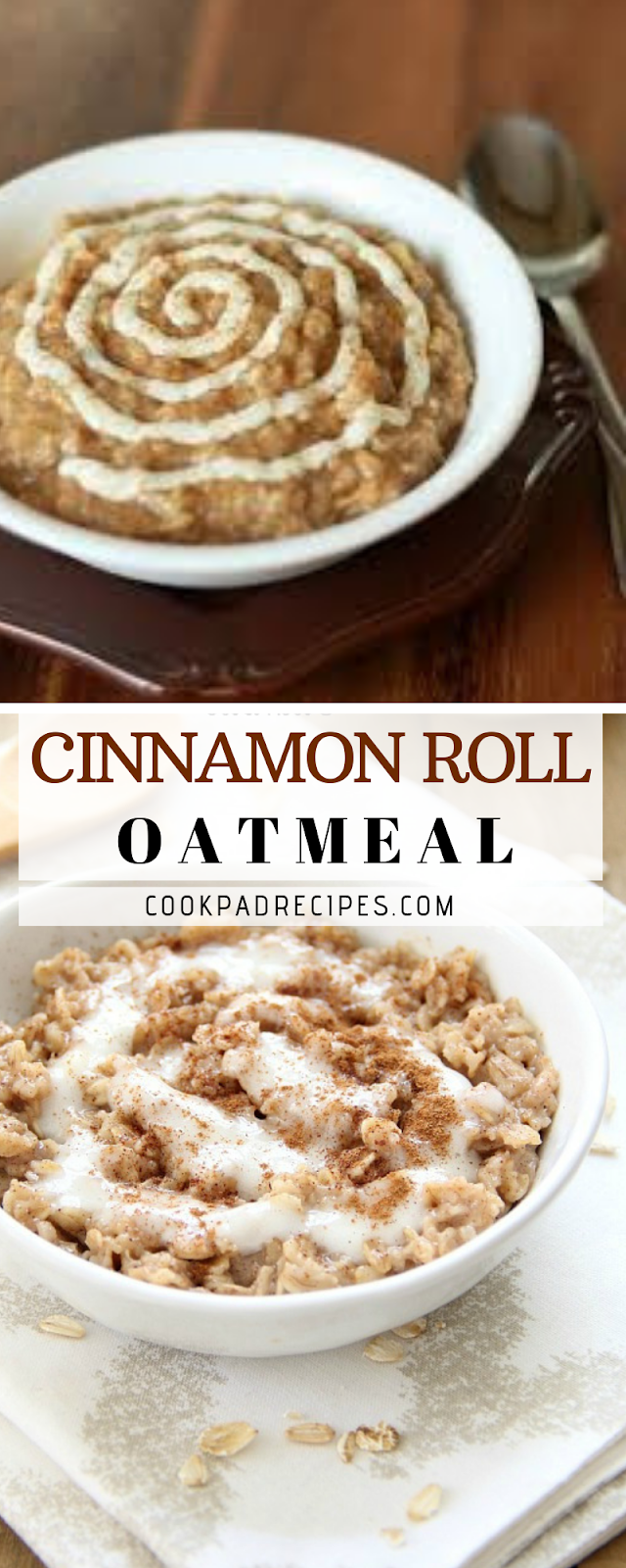 Cinnamon Roll Oatmeal