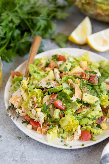 Bacon Avocado Chicken Salad with Lemon Vinaigrette
