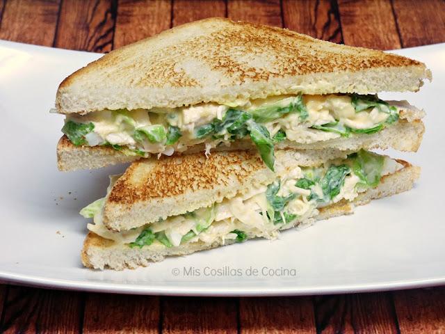 sándwich de pollo, frío
