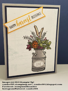 Paper Crafting Blog Hop Stampin' Up! Country Home #simplestamping #sandee904