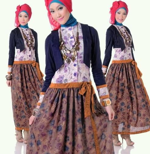 10 Model Kebaya Batik Modern Hijab Terbaru 2020