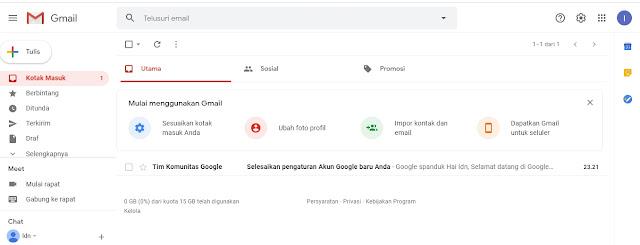 pembuatan akun google telah selesai