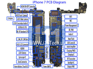 PCB-Diagrama--da-Placa-iPhone-7-diagram-layout