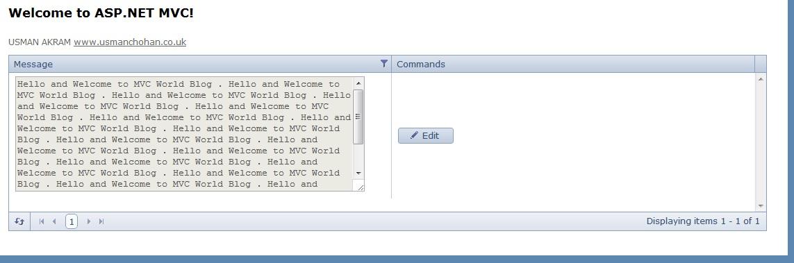 Telerik MVC Grid TextArea in a Grid Column | ASP  NET & MVC - Blog