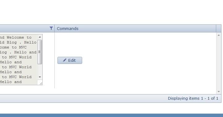 Telerik MVC Grid TextArea in a Grid Column | ASP  NET & MVC