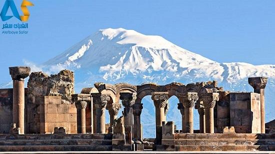 معبد زوارتنوس در ایروان ارمنستان