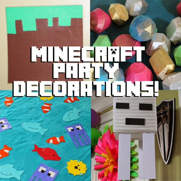 Minecraft birthday party decoration and game ideas!