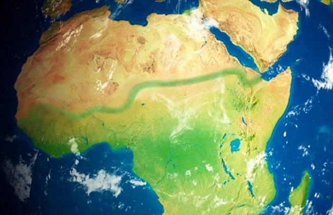 A faixa verde mostra a extensão que a Grande Muralha Verde terá quando for concluída/ Reprodução
