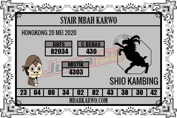 Prediksi HK Rabu 20 Mei 2020 - Syair Mbah Karwo