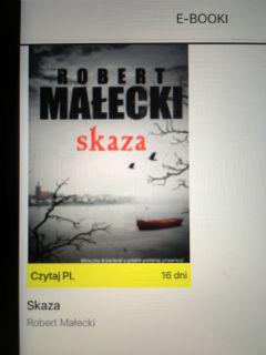 """#czytajpl2019 wybór #3, """"Skaza"""" Robert Małecki, fot. paratexterka ©"""