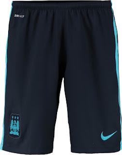 gambar detail celana bola Celana Manchester City away terbaru musim depan 2015/2016 Official
